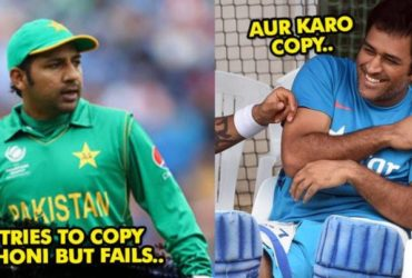 Watch Video Sarfraz Ahmed Tried Copy MS Dhoni Failed Badly