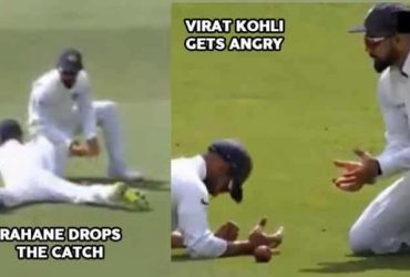 Virat Kholi Reaction Ajinkya Rahane Drops Catch Watch Video